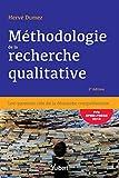 Méthodologie de la recherche qualitative : Les questions clés de la démarche compréhensive