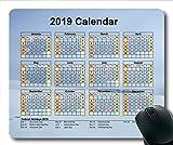 2019 Kalender-Mauspad-Gaming, Kalenderschreibtisch Gaming-Mauspads, Kalenderplaner 2019 mit Feiertagsdetails