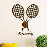 zqyjhkou Adesivo murale Sport Tennis Adesivo murale Palla da Tennis Home Interior Design Arte Rimovibile Vinile Tennis Wallpaper Boys Room Art 2 42x49cm