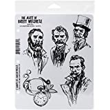 Stampers Anonymous Brett Weldele Cling Rubber Stamp Set 7-inch x 8.5-inch, Steampunk Selfie-Gents