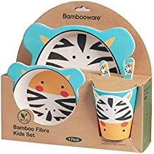 Vajilla de bambú bebé e Infantil, Material ecológico sin BPA. Varios Colores y Animales