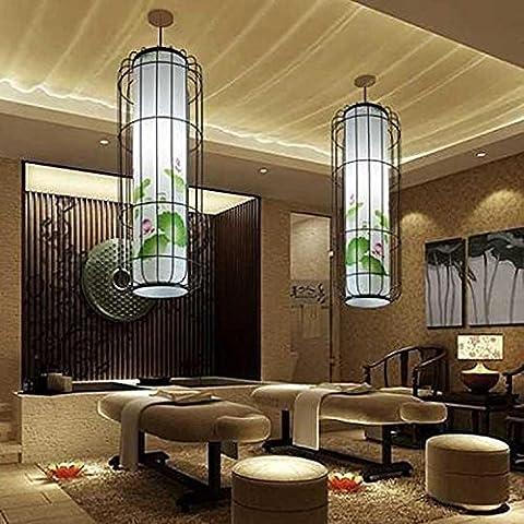 San Lanterne di ferro battuto uccello gabbia lampada ristorante ciondolo decorano il ristorante living room lampada lanterna Lampadario Lampada a sospensione Hotel Leisure Club , 35*35*110