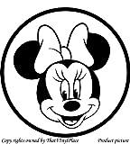 Minnie mouse 20 cm x 20 cm, erhältlich in 18 Farben, Motiv Disney Prinzessin-Kind Raum-Aufkleber Auto Vinyl, Fenster und Wand-tattoo/aufkleber Wand Windows-Art ThatVinylPlace Wandtattoo
