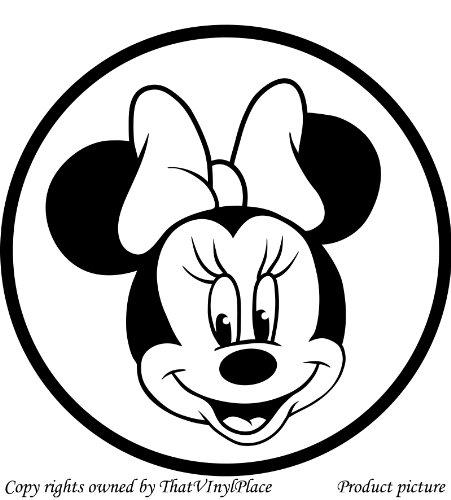 Minnie mouse 20 cm x 20 cm, erhältlich in 18 Farben, Motiv Disney Prinzessin-Kind Raum-Aufkleber Auto Vinyl, Fenster und Wand-tattoo/aufkleber Wand Windows-Art ThatVinylPlace Wandtattoo (Tattoo Vinyl-aufkleber)