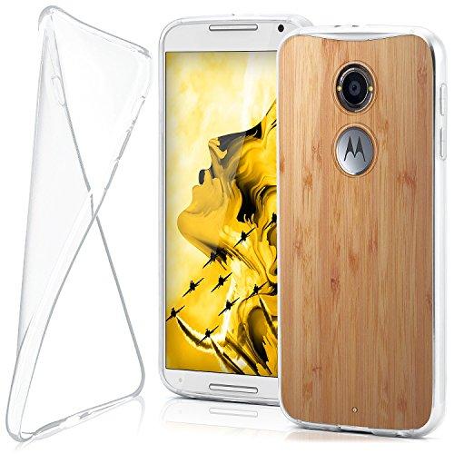 moex Motorola Moto X2 | Hülle Silikon Transparent Klar Clear Back-Cover TPU Schutzhülle Dünn Handyhülle für Motorola Moto X 2. Generation Case Ultra-Slim Silikonhülle Rückseite