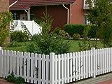 Bauer 114253, Bauer Kunststoff Zaun Lattenprofil 'Softline' 1,18m in weiß
