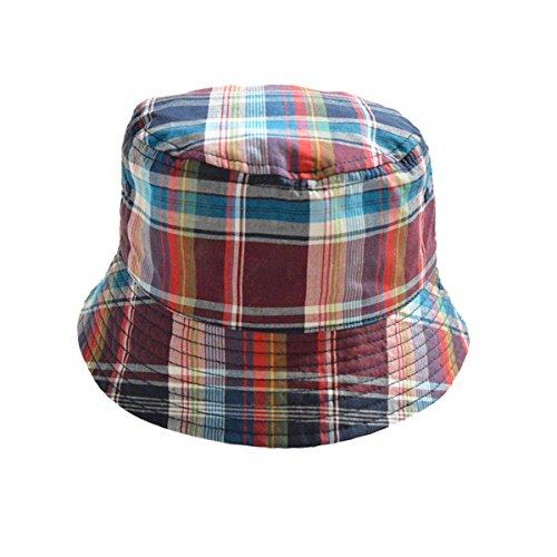 feoya-chapeau-de-soleil-bebe-fille-garcon-anti-uv-bob-soleil-a-carreaux-bonnet-a-bord-vague-coton-co