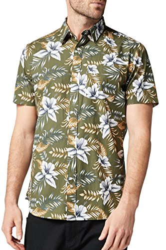 next-Hombre-Camisa-Manga-Corta-Estampada-Corte-Regular