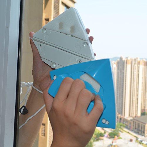 Doble cara limpiador de cristal triangular magnético limpiador de cristal