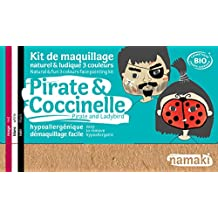 Namaki Kit de Maquillage Naturel et Ludique 3 Couleurs Pirate et Coccinelle