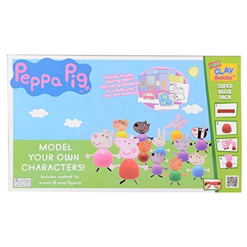 Peppa Pig Kit de Manualidades para moldear Personajes, 8436033309186