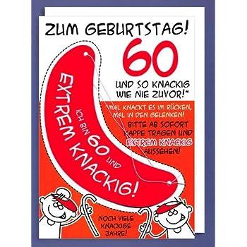 """XXL- Karte DIN A4 """"Zum Geburtstag! 60 - mit Sonnenschutz"""