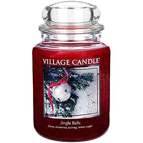 Village Candle–Jingle Bells–26oz grande Premium Vela en tarro