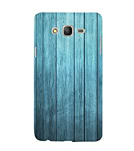 99Sublimation Blue wood Broad Stripes Background 3D Hard Polycarbonate Back Case Cover for Samsung Galaxy On5 :: Pro
