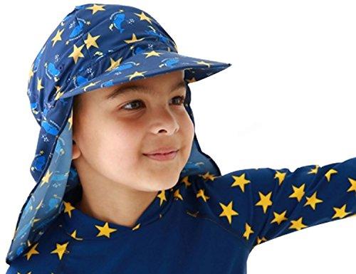 YISEVEN Kind Junge und Mädchen Sonnenschutz sportlich Klappe Schwimmen hat UV-Klappe Kappe Besten Schwimmen-kappe