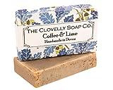 Clovelly Soap Co. Handgemachte Naturseife für alle Hauttypen 100g (Kaffee & Limette, 1 Stück)