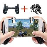Juegos de Móviles Controlador Equipo Dispara y Apunta L1R1 Disparadores y Gamepad para PUBG / Cuchillo Fuera / Fortnite para Android e iOS (1 par +1 Gamepad)