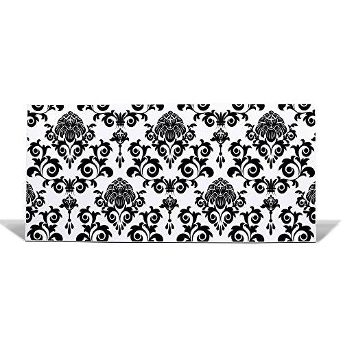 BANJADO Design Magnettafel weiß, Wandtafel magnetisch 37cm x 78cm, Metall Pinnwand, Memoboard mit...