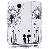 tinxi® Kunstleder Tasche für Samsung Galaxy S4 i9500 Tasche Flipcase Schutzhülle Standfunktion mit Karten Slot zwei liebliche Kinder