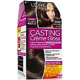 L'Oréal Paris Casting Crème Gloss Colore Trattamento senza Ammoniaca, 300 Castano Scuro
