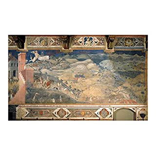 Ambrogio Lorenzetti - Effects of Good Government in The Countryside - Extra Large - Archival Matte - Framed