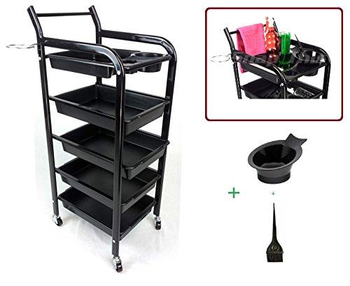 teknoh-4s-salon-chariot-de-rangement-haute-finition-noir-brillant-avec-couleur-de-teinture-pour-bol-