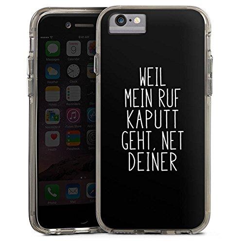 Apple iPhone 7 Plus Bumper Hülle Bumper Case Glitzer Hülle Weil Mein Ruf Kaputt Geht Pietro Lombardi Spruch Bumper Case transparent grau