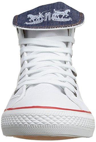 Levi's Menlo Park High Fold Lace, Baskets mode homme Blanc (50)