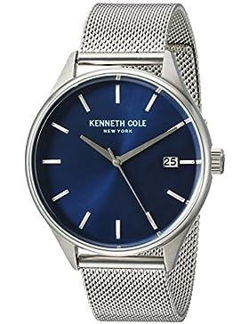 Kenneth Cole New York Herren 'Classic' Quarz Edelstahl Kleid Uhr, Farbe: silberfarbene (Modell: 10030837)