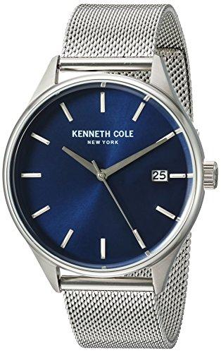 Kenneth Cole 10030837 - Orologio da polso da uomo, acciaio inox, colore: Argento