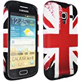 Samsung Galaxy Ace 2 i8160 UK Flag Print Soft Rubber Jelly Case Cover Plus Free Screen Protector & Screen Polishing Cloth