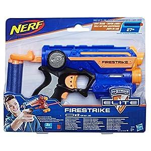 Nerf- Lanzador Firestrike, Color azul (Hasbro 53378EU6)