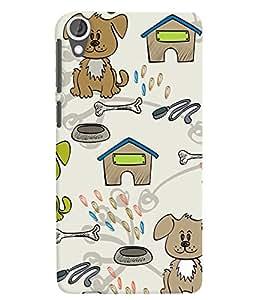 Citydreamz Dogs/Pets/Bone/Cute/Cartoon Hard Polycarbonate Designer Back Case Cover For HTC Desire 628/ HTC Desire 628 Dual Sim
