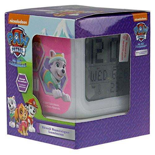 Nickelodeon PAW35-DALC Paw Patrol Digital Wecker mit Farbwechsel (Zimmer-wecker)