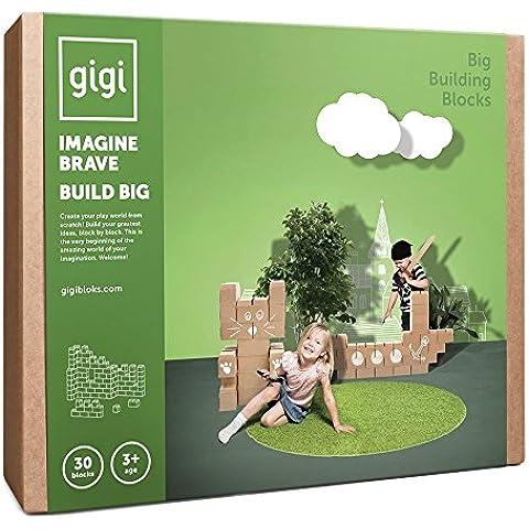 Grandes bloques de construcción – un juguete de construcción creativo con 30 bloques XL - un regalo increíble para niños y