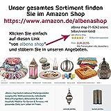 albena shop 73-109 orientalisches Tablett Kerzenteller Silber (ø 40,5 cm, Modell: Yasha) - 6