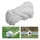 TOPINCN Soccer Net Durable Soccer Goal Sports de Filets de Remplacement pour Lacrosse et Soccer (1,8 x 1,2 m, 2,4 x 1,8 m, 3,7 x 1,8 m, 7,3 x 2,4 m), 6X4FT