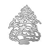 Lazzboy Fustelle Natale Scrapbooking Metallo Stencil Paper Card Craft per Sizzix Big Shot/Altre Macchine(E, Albero di Natale-2)