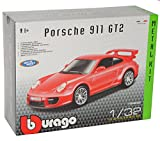 Bburago Porsche 911 997 GT2 Coupe Rot 2004-2012 Bausatz Kit 1/32 Modell Auto