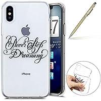 Herbests Handy Tasche für iPhone XS Silikon Hülle Durchsichtige Schutzhülle Crystal Clear Transparent Ultra Dünn Handyhülle Silikonhülle Kristall Klar TPU Bumper,Traum