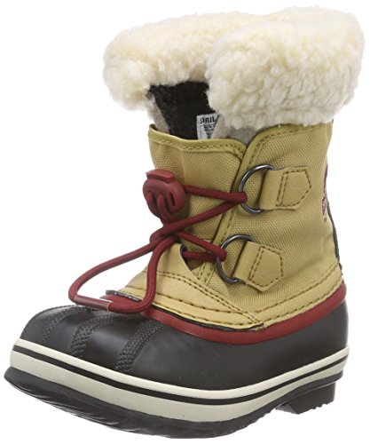 Sorel Childrens Yoot Pac Nylon, Unisex-Kinder Warm Gefütterte Schneestiefel, Grün (Curry, Red Dahlia 373), 30 EU (Sorel Kids Boot Yoot Pac)