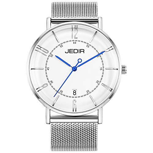 Jedir orologio al quarzo classico semplice quadrante grande calendario...