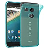 Cadorabo Hülle für LG Nexus 5X - Hülle in TRANSPARENT BLAU – Handyhülle aus TPU Silikon im Ultra Slim 'AIR' Design - Silikonhülle Schutzhülle Soft Back Cover Case Bumper