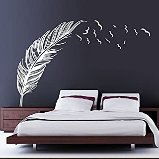 Akooya Left Right Flying Feather Wall Stickers Home Decor Adesivo De Parede Home Decoration Wallpaper