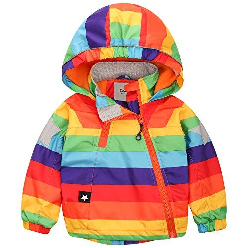 ZOEREA Baby Kinder Jacke Winter Junge Mädchen Wasserdichte Winddicht Mantel Kapuzenjacken für Herbst Winter Körpergröße 85-140cm (Baby Jacke Kinder)