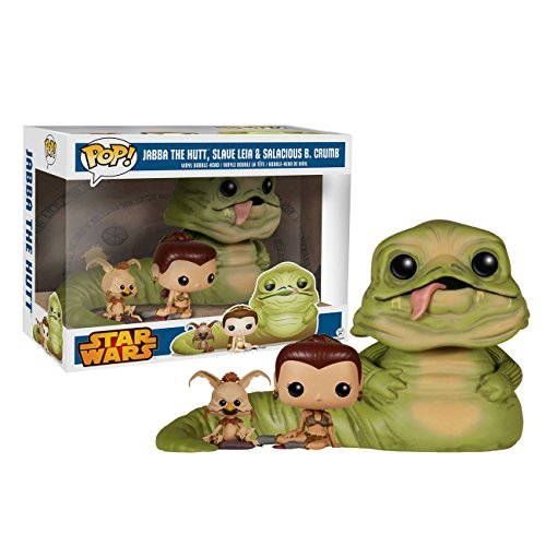 Star Wars Return of the Jedi Exclusive Jabba, Slave Leia & Salacious B. Crumb ... by POP