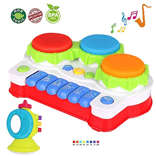 LUKAT Baby Spielzeug für Kleinkind und Baby, Klavier und Trommel Musik Spielzeuge (Kleinkind-klavier)