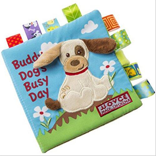 Yinew Stoffbuch Babybuch,Früh Lernen Lernspielzeug Baumwolle weichen Tuch Buch