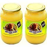 Shree Radhey Gir Cow ghee, 900g Each (Traditional Bilona Churned) - Pack of 2