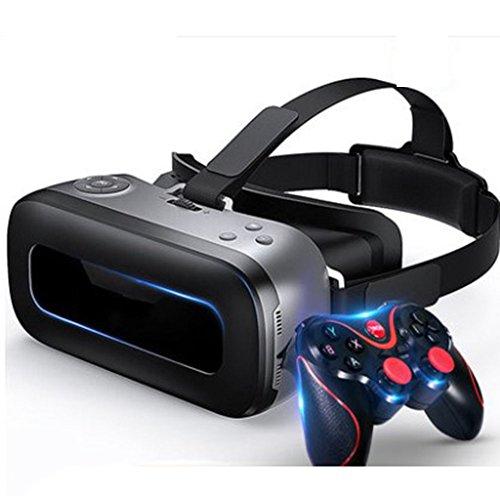 VR Occhiali 3d, 360 HD immersif Casco di Realtà Virtuale, Controller di gioco video iPhone 7 6 6S Plus, Samsung S6, Gamepad